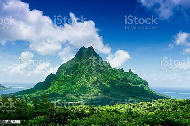 Photo of Mount Roto Nui Volcanic Mountain Moorea Island