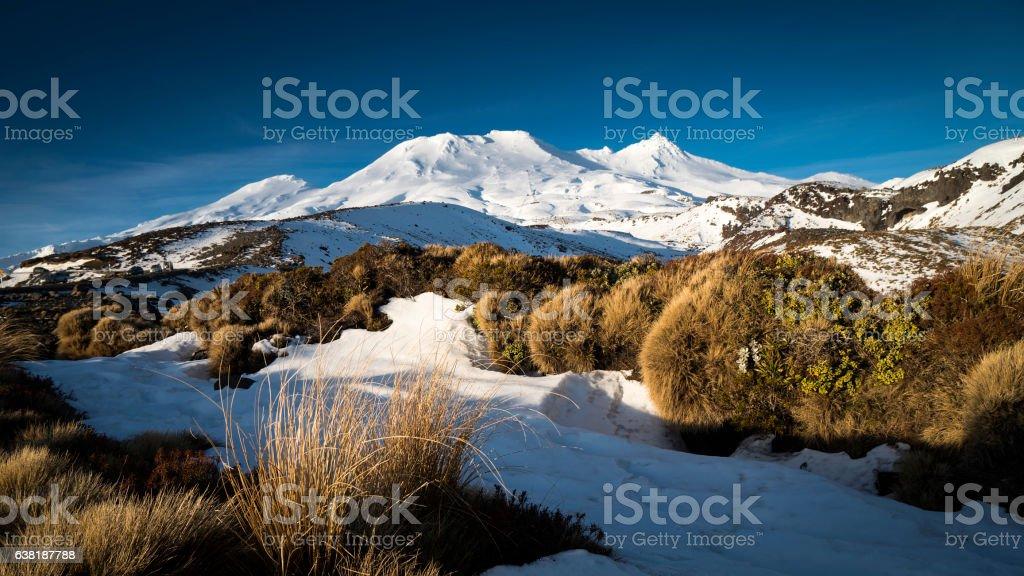 Mount Ruapehu, New Zealand stock photo