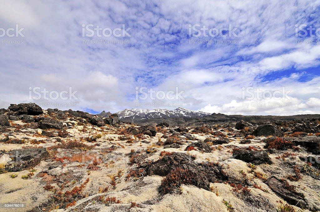 Mount Ruapehu, North Island, New Zealand stock photo