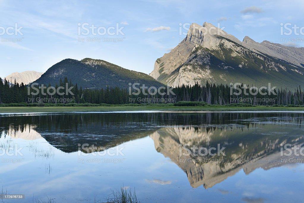 Mount Rundle royalty-free stock photo