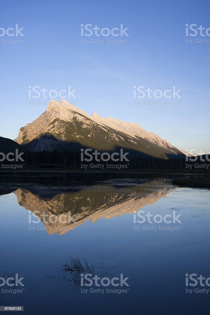 Mount Rundle Reflection royalty-free stock photo