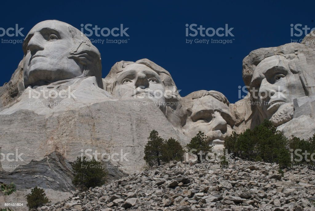 Mount Rushmore in Rapid City South Dakota stock photo