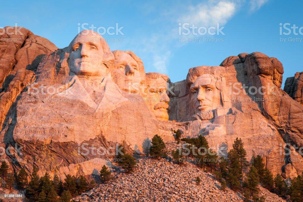 Mount Rushmore Landscape Black Hills stock photo