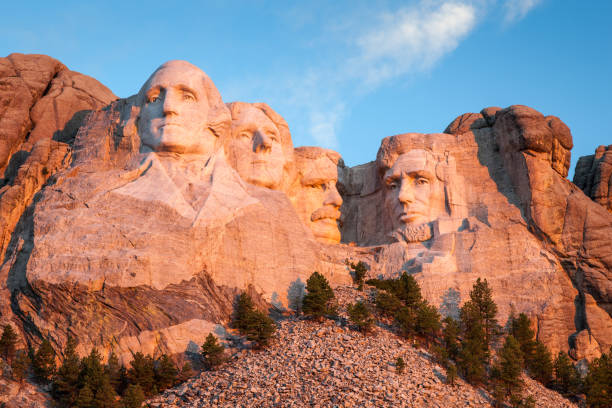 Mount Rushmore Landscape Black Hills stock photo