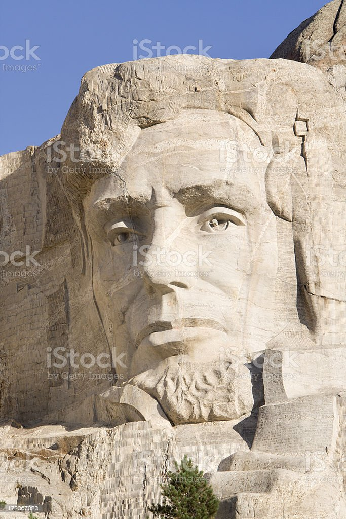 Mount Rushmore - Lincoln stock photo
