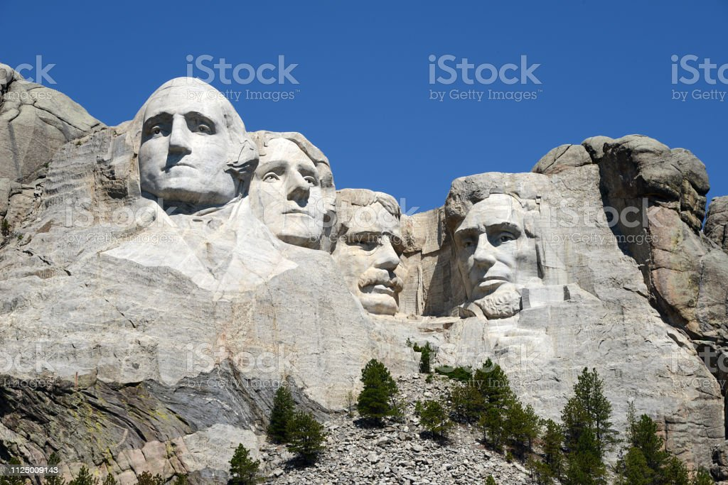 Mount Rushmore Nationaal Monument - Royalty-free Abraham Lincoln Stockfoto
