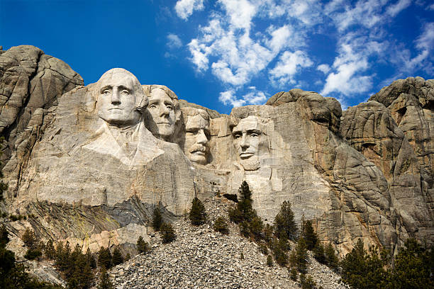 Mount Rushmore National Monument. Presidential sculpture at Mount Rushmore National Monument, South Dakota. mount rushmore stock pictures, royalty-free photos & images