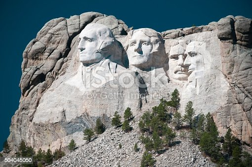The famous Mount Rushmore National Monument in South Dakota.