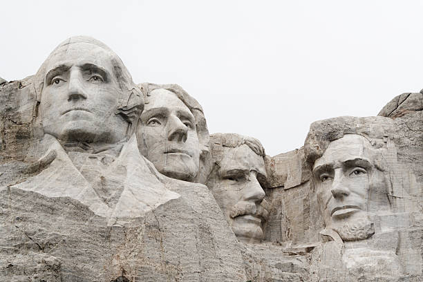 Mount Rushmore National Monument with USA Presidents in Mountain Stone