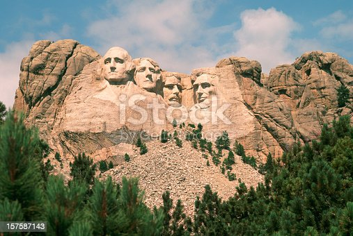 istock Mount Rushmore on a beautiful summer day. 157587143