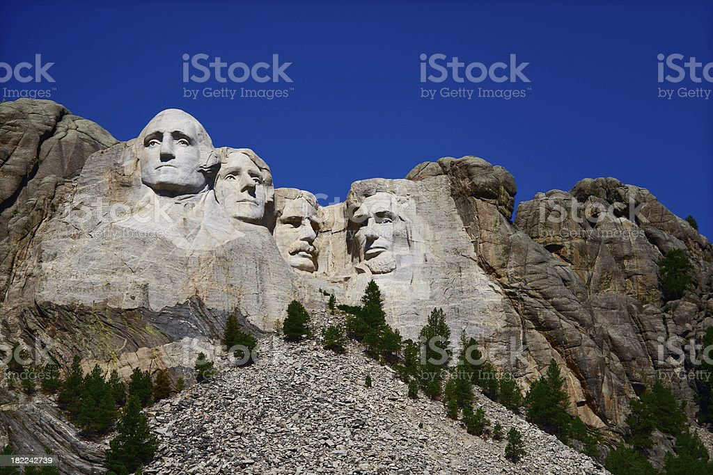 Mount Rushmore royalty-free stock photo