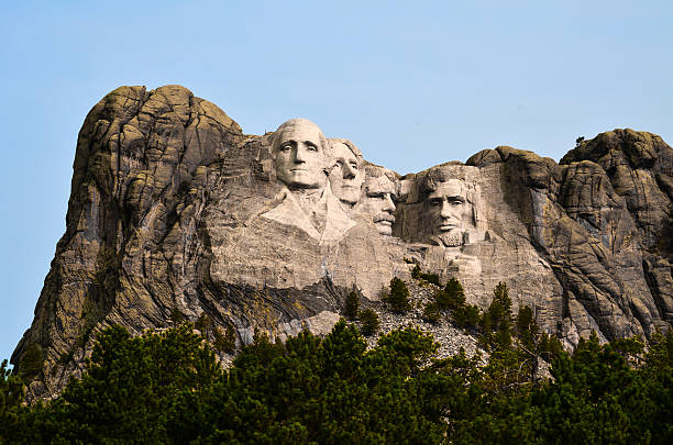 Mount Rushmore American History, Alive in Stone... mount rushmore stock pictures, royalty-free photos & images