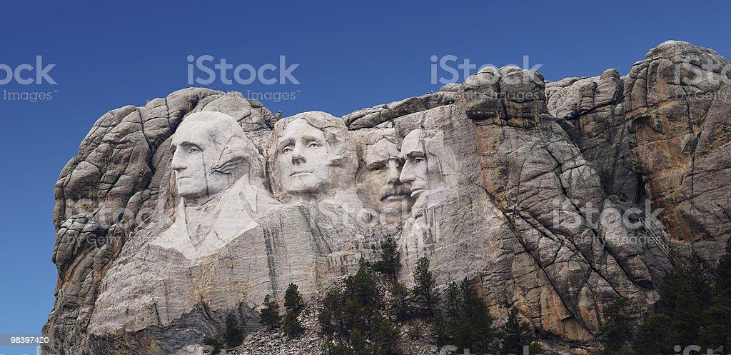 Mount Rushmore (Washington crying) royalty-free stock photo