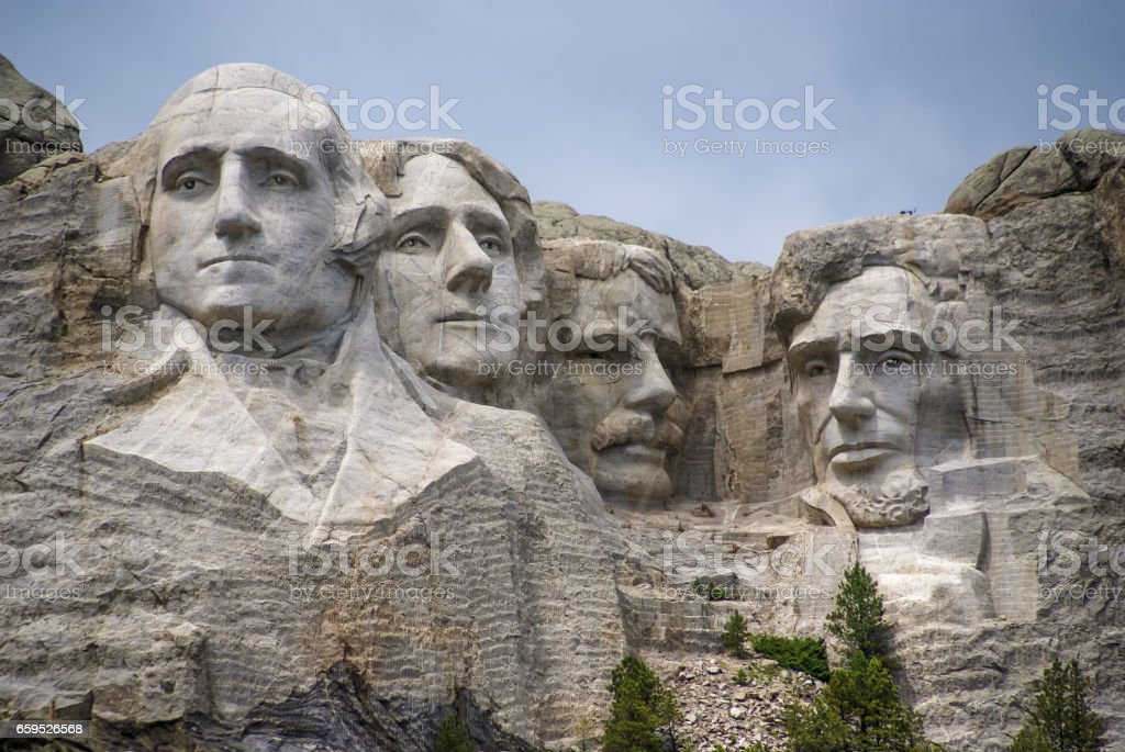 Mount Rushmore Presidential Sculpture. stock photo