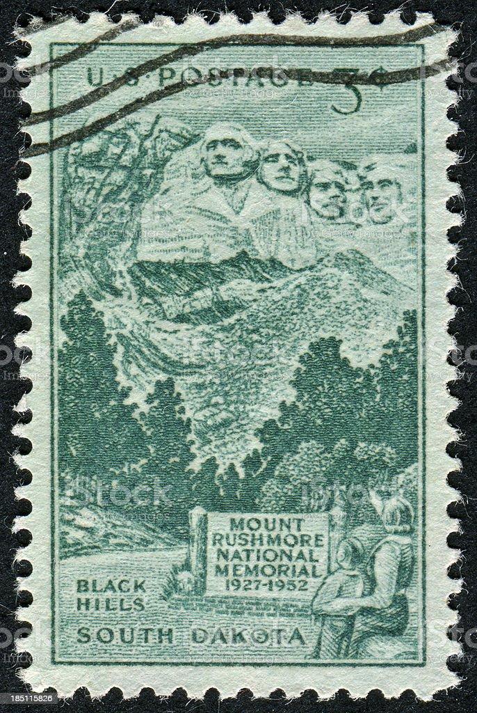 Mount Rushmore Stamp royalty-free stock photo