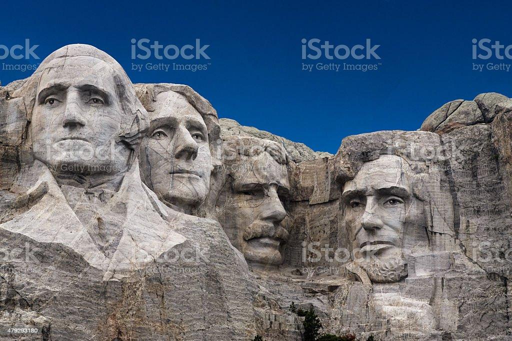 Mount Rushmore, Taken from entrance sidewalk. stock photo