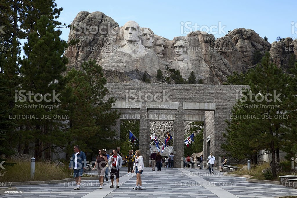Mount Rushmore Visitor Center stock photo