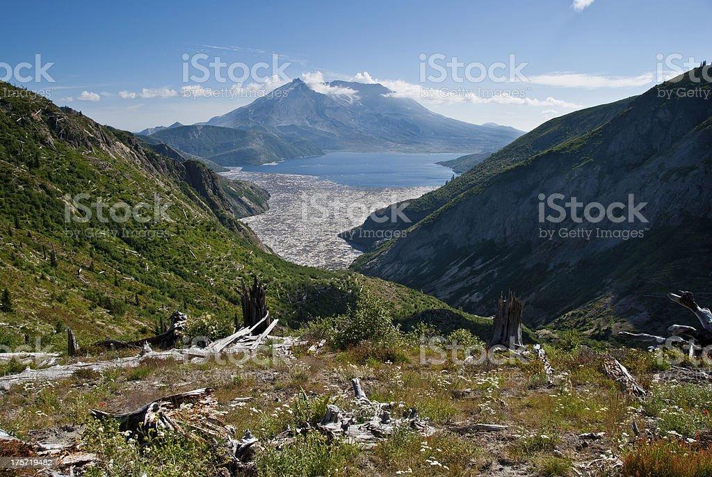 Mount Saint Helens and Spirit Lake royalty-free stock photo
