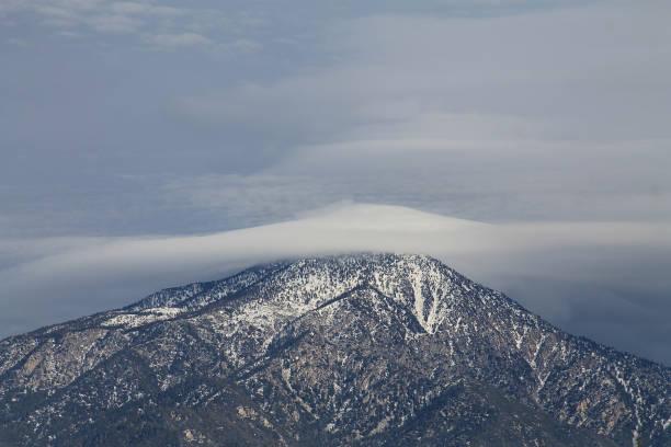 Mount San Bernardino Snow stock photo