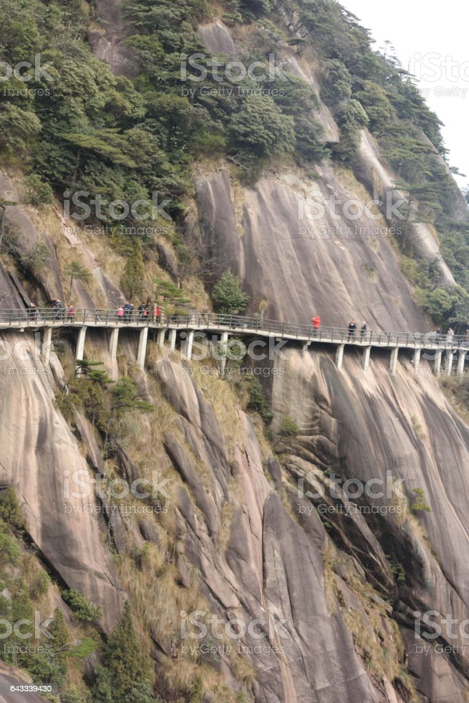 Mount Sanqingshan of China stock photo
