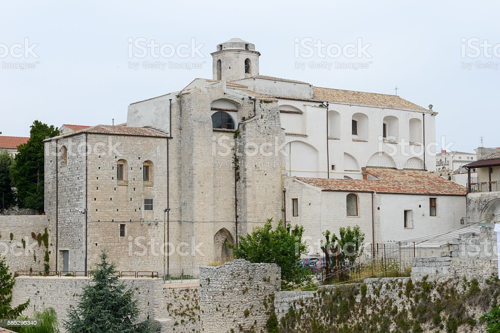 Monte Sant'Angelo on Puglia stock photo