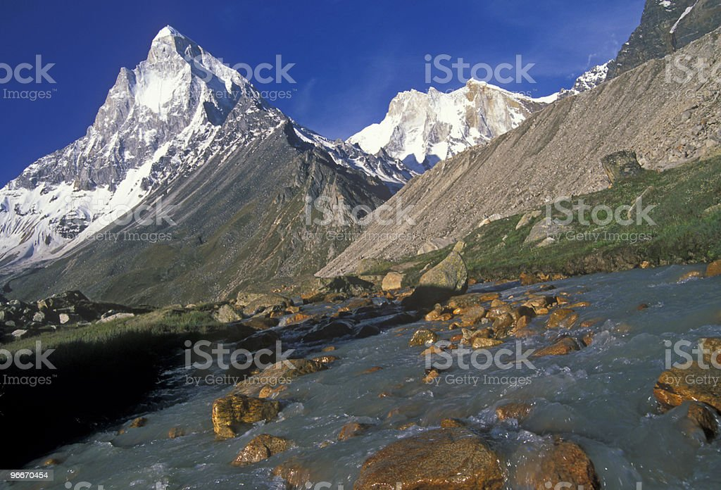 Mount Shivling stock photo