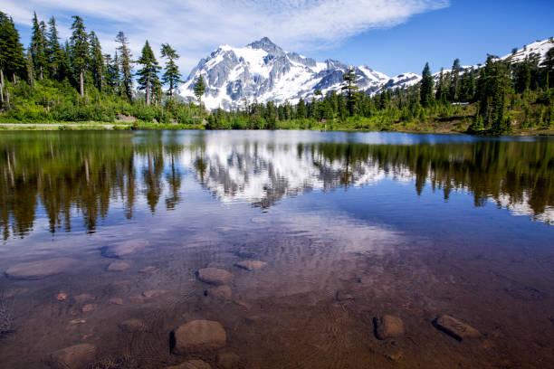 Mont Shuksan en été, WA, é.-u. - Photo