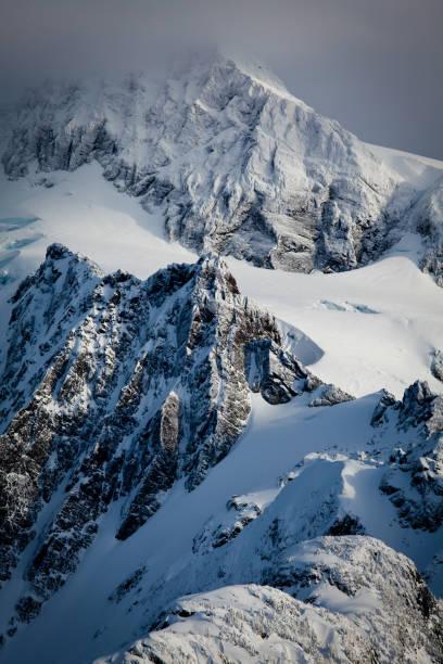 Monte Shuksan tempestade - foto de acervo
