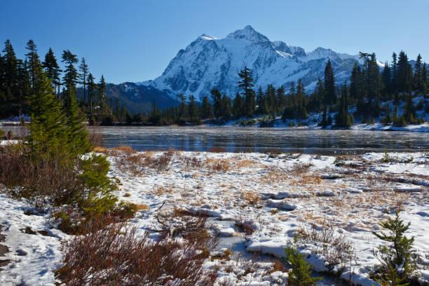 Scène d'hiver Mont Shuksan - Photo