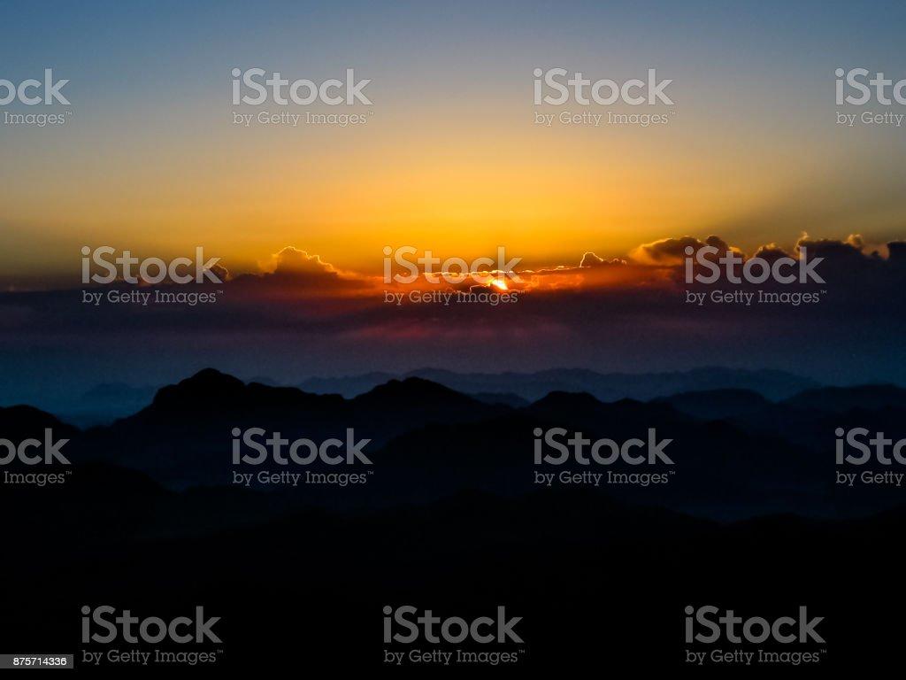 Mount Sinai aerial view stock photo