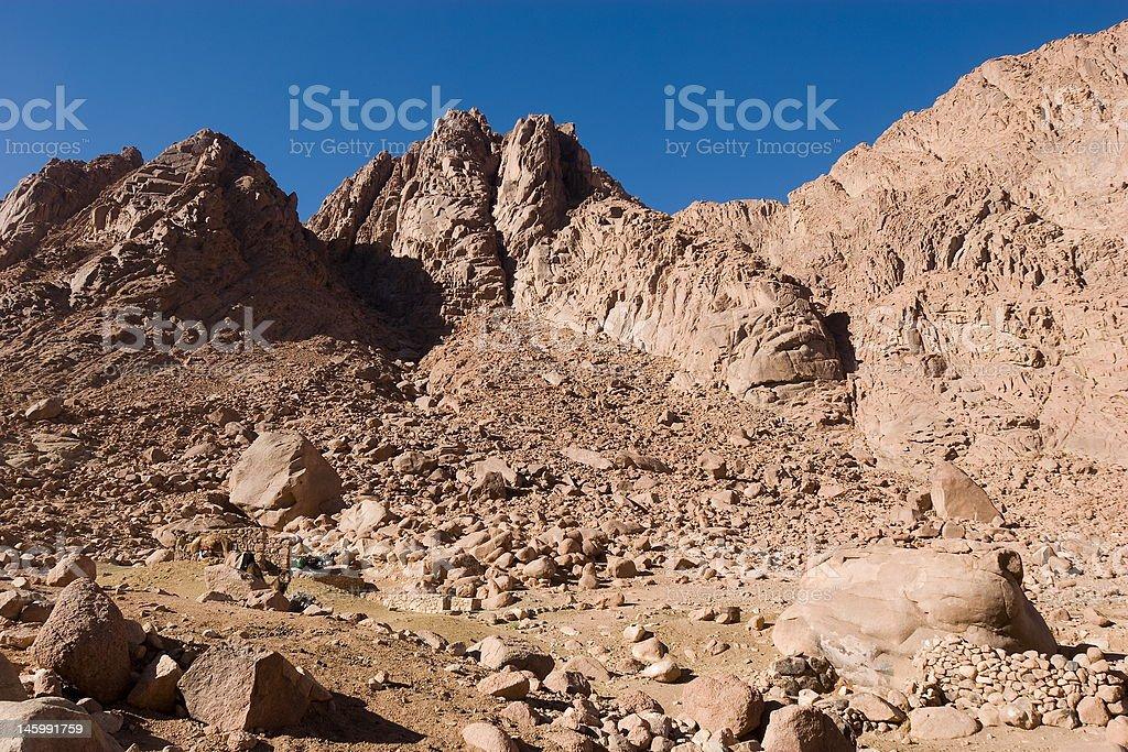 Mount Sinai Rocks royalty-free stock photo