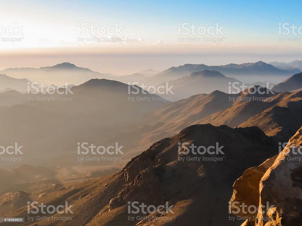 Mount Sinai summit stock photo
