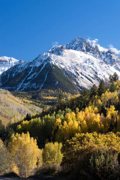 Mount Sneffels Mountain Range located in Southwestern Colorado. stock photo