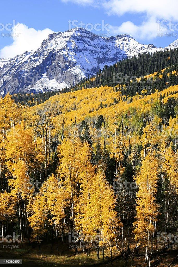 Mount Sneffels Range, Colorado stock photo