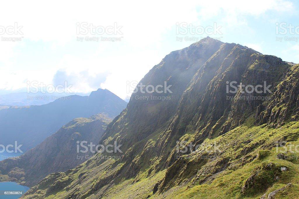 Mount Snowden summit stock photo