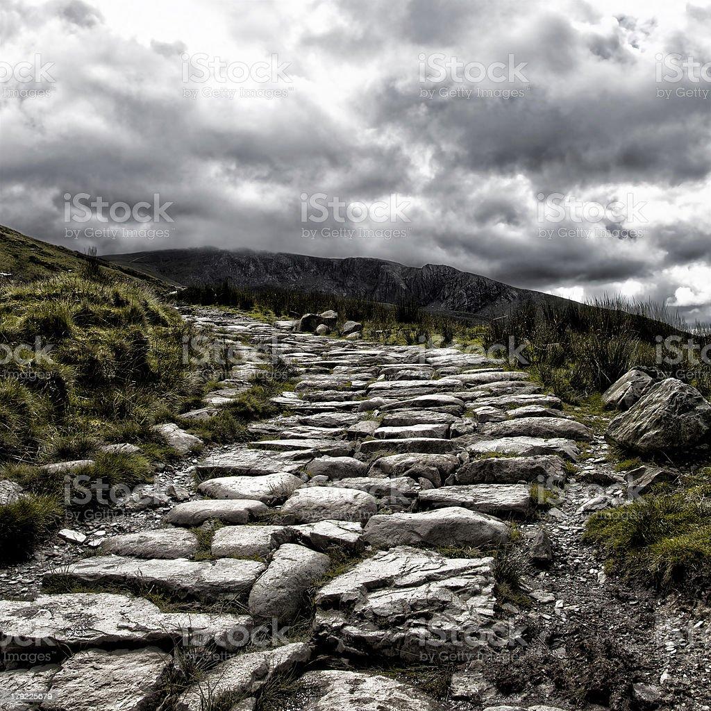 Mount Snowdon path royalty-free stock photo