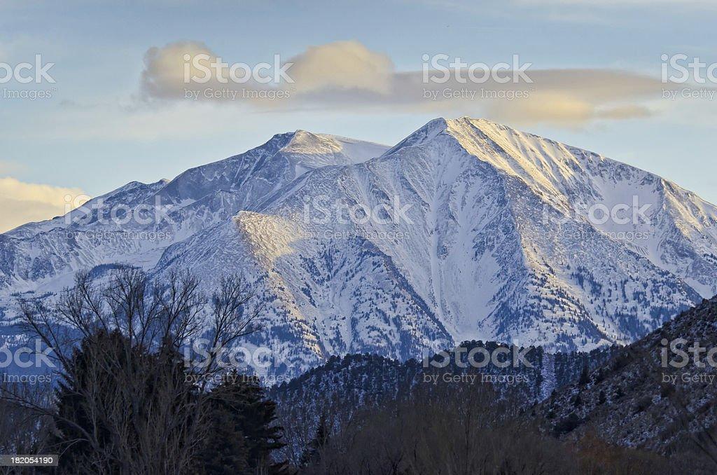 Mount Sopris at Sunset royalty-free stock photo