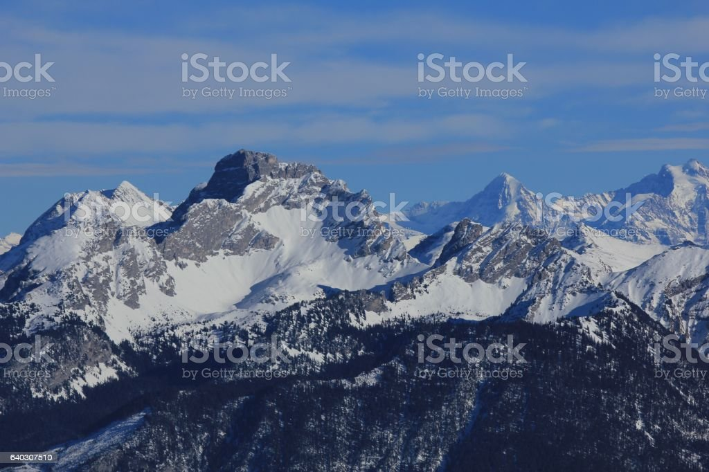 Mount Spillgerten in winter stock photo