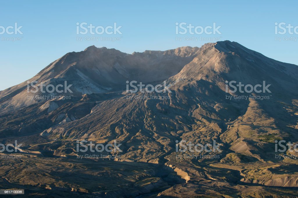 Mount St Helens blast zone and crater, Washington state, USA stock photo