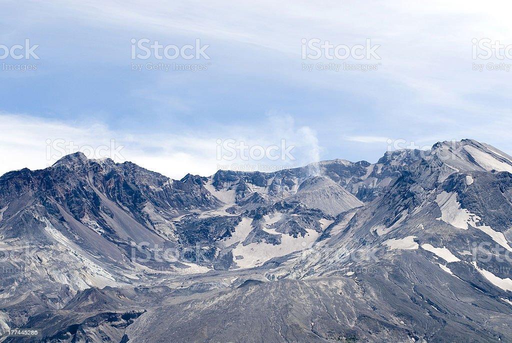 Mount St. Helens Erupting stock photo