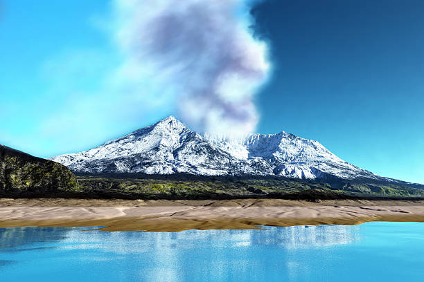 Mount St. Helens Volcano stock photo