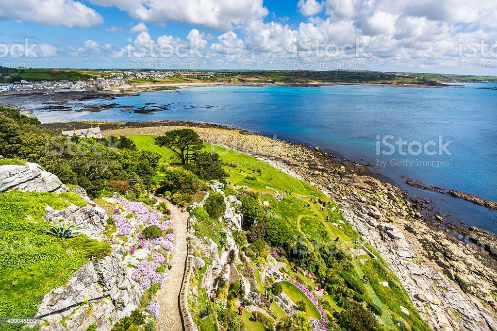 mount st michael island fortress stock photo