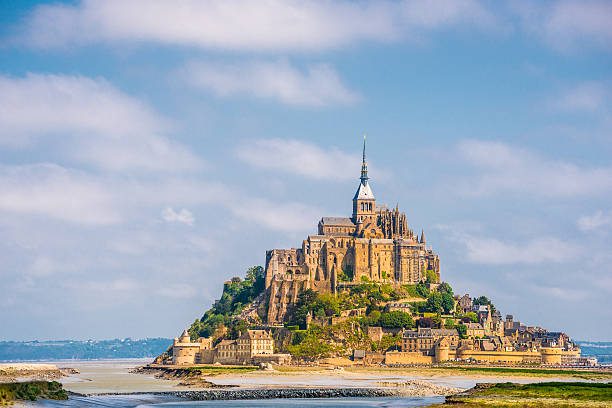 Mount St. Michel The famous landmark of Bretagne manche stock pictures, royalty-free photos & images
