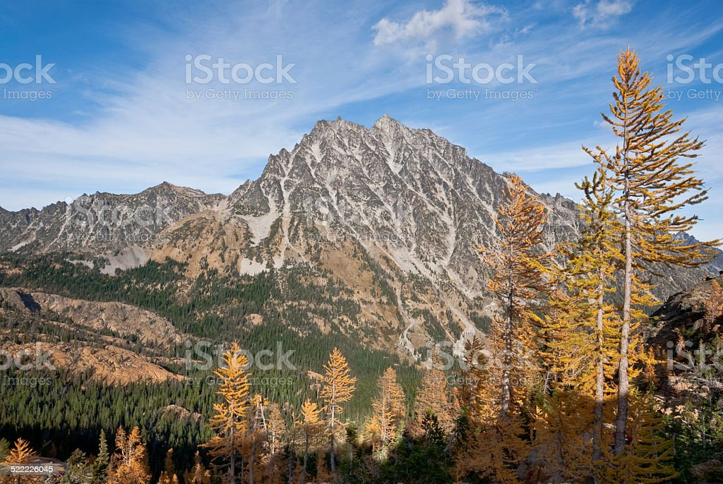 Mount Stuart in the Fall royalty-free stock photo