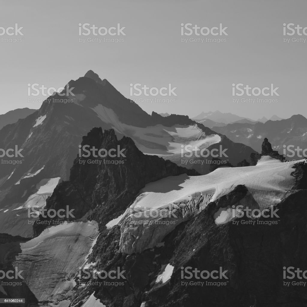 Mount Stucklistock and Fleckistock, view from mount Titlis stock photo