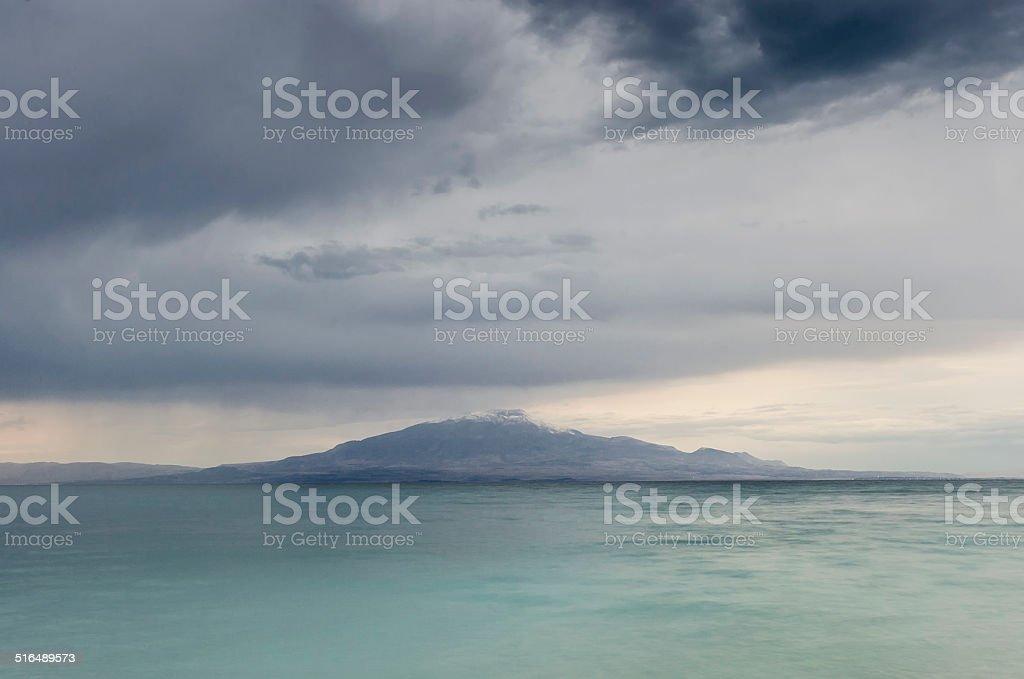 Mount Suphan near Van Lake stock photo