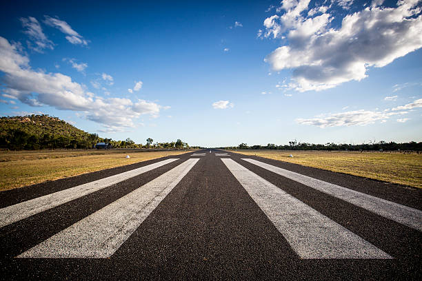 Mount Surprise Airport The rural Mount Surprise Airport ruinway in Queensland, Australia airfield stock pictures, royalty-free photos & images