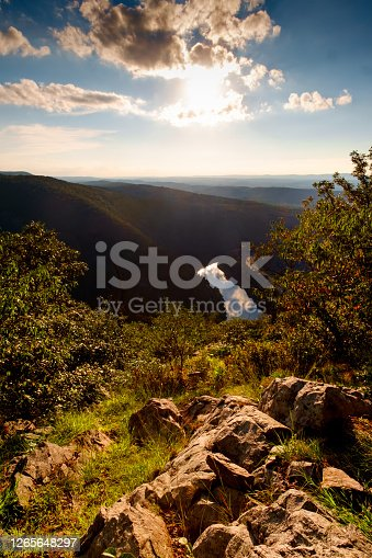 View of Mt. Minsi from the top of Mount Tammany near the Delaware Water Gap