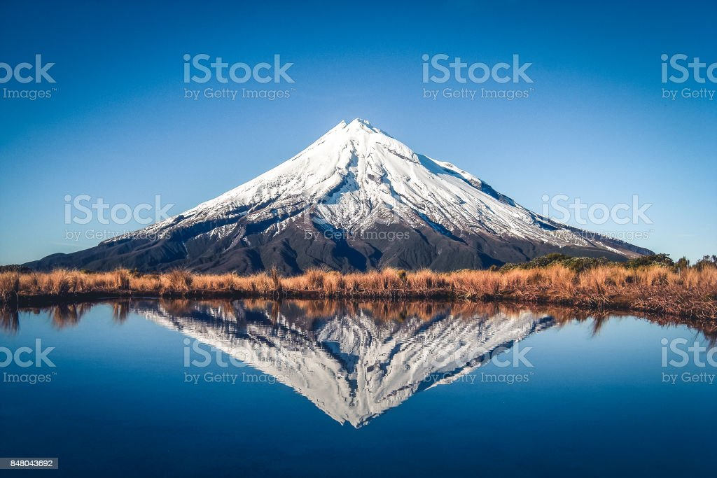 Mount Taranaki - New Zealand stock photo