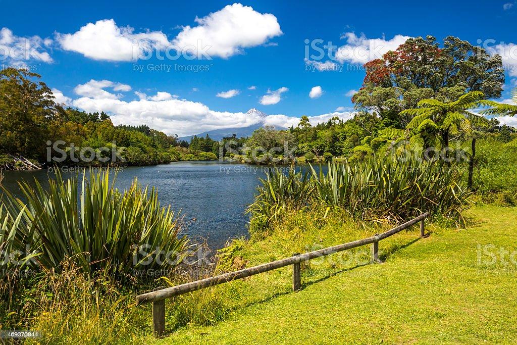 Mount Taranaki stock photo